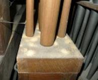 Houten pijp houtworm